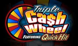 triple cash wheel slot logo