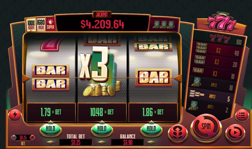 777 Slots Main Game