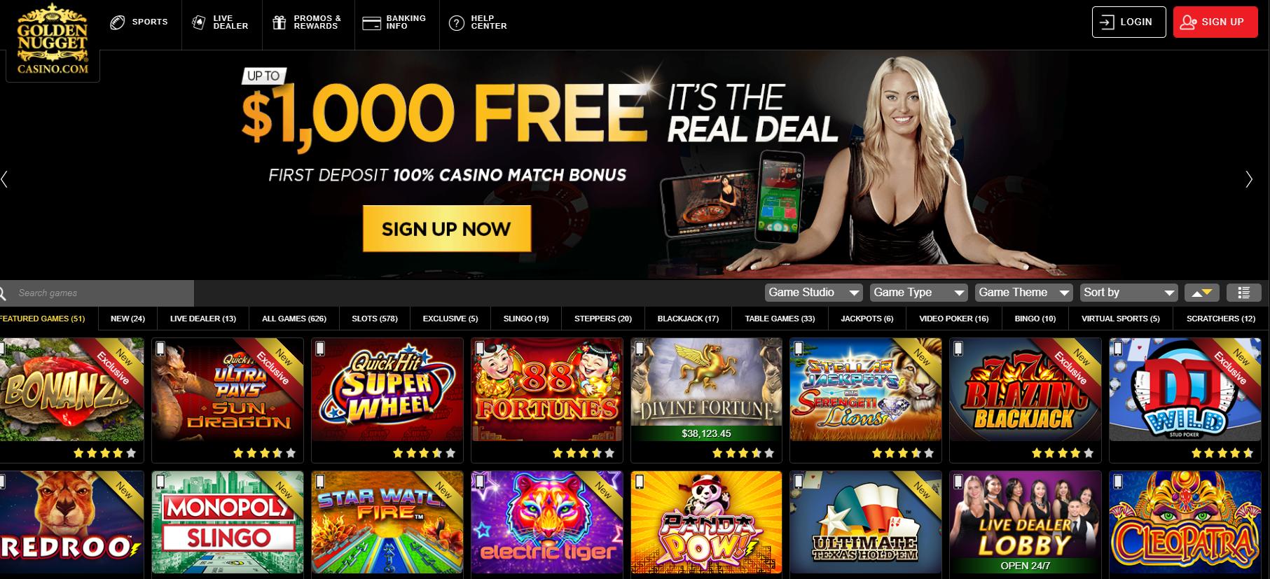 Golden Nugget Online Casino in New Jersey