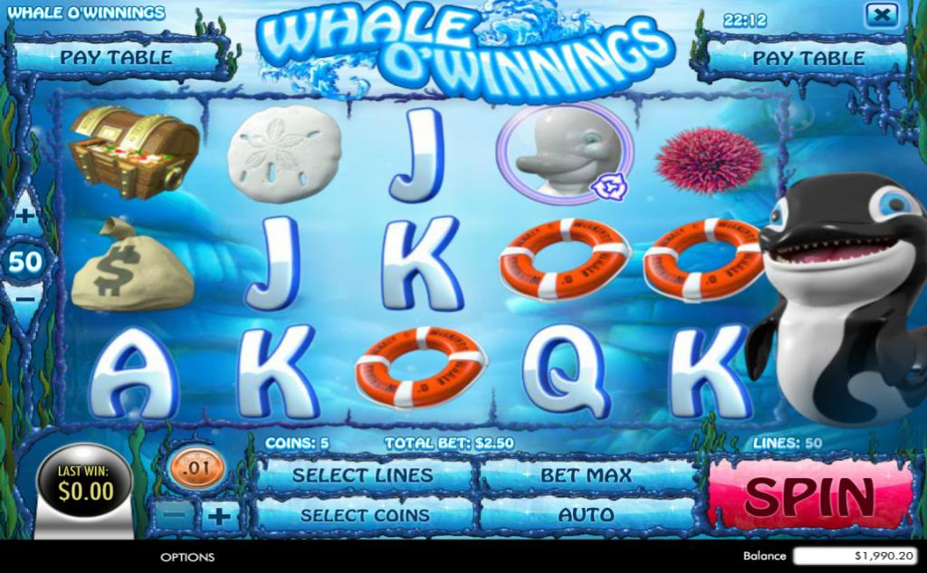 Whale O' Winnings Main Game