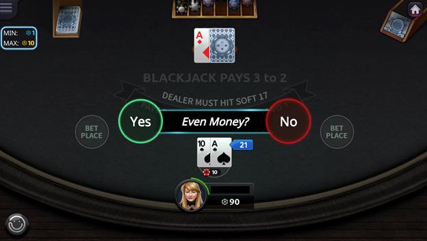 Blackjack Even Money