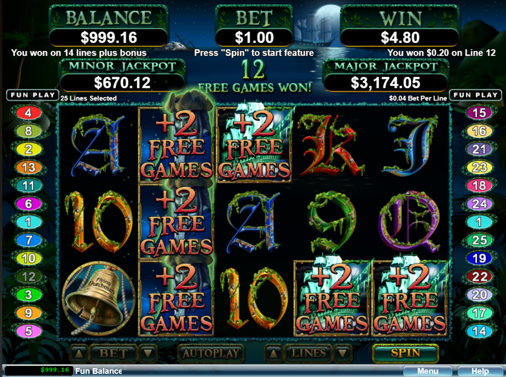 Ghost Ship Free Spins