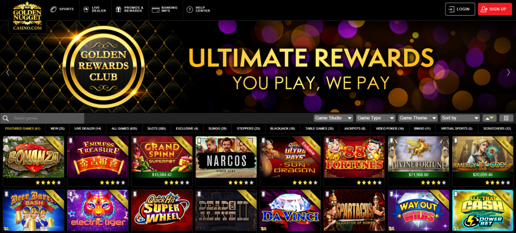Golden Nugget NJ online casinos