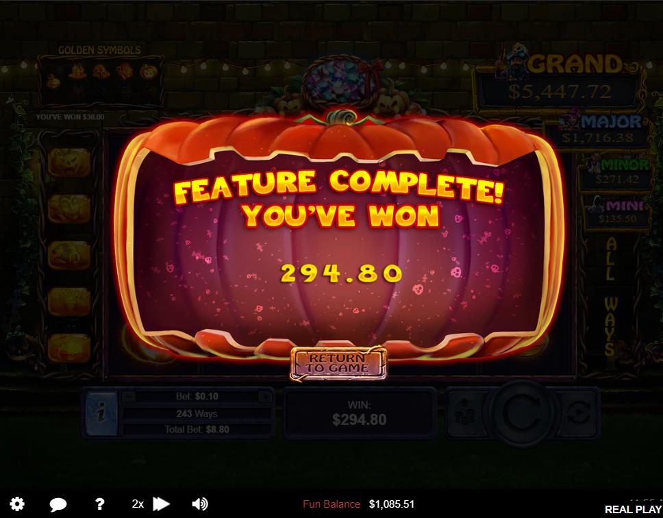 Halloween Treasurs Free Game Big Win
