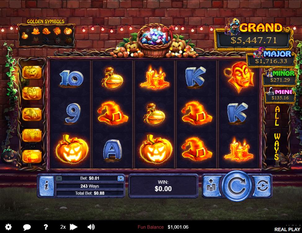 Halloween Treasures Main Game