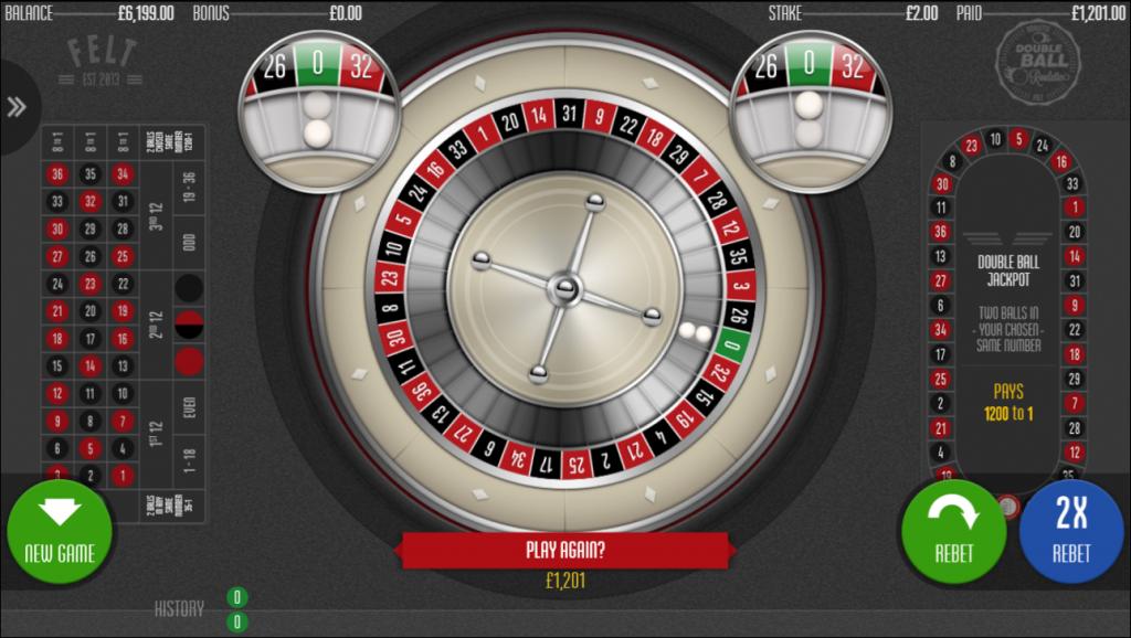 Double Ball Roulette Jackpot Win