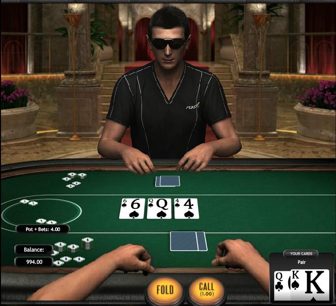 Poker3 Heads-Up Hold'em Main Game