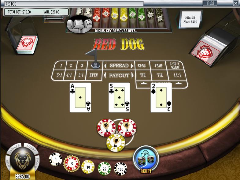 Red Dog Poker Main Game