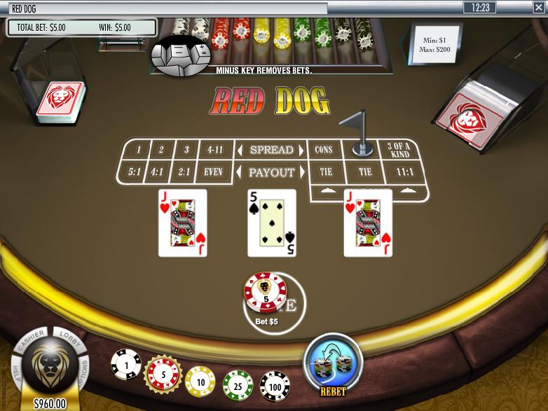 Red Dog Poker Pair