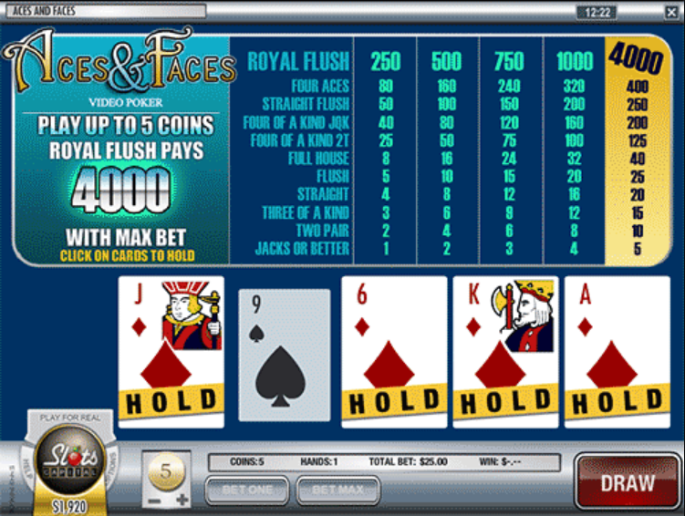 Aces-and-Faces-Video-Poker