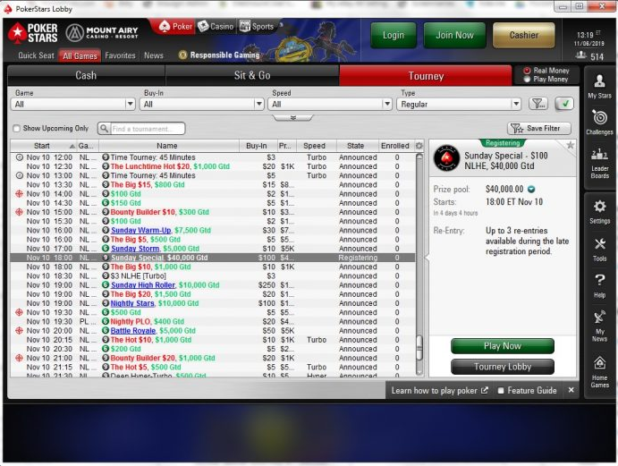 PokerStars MI