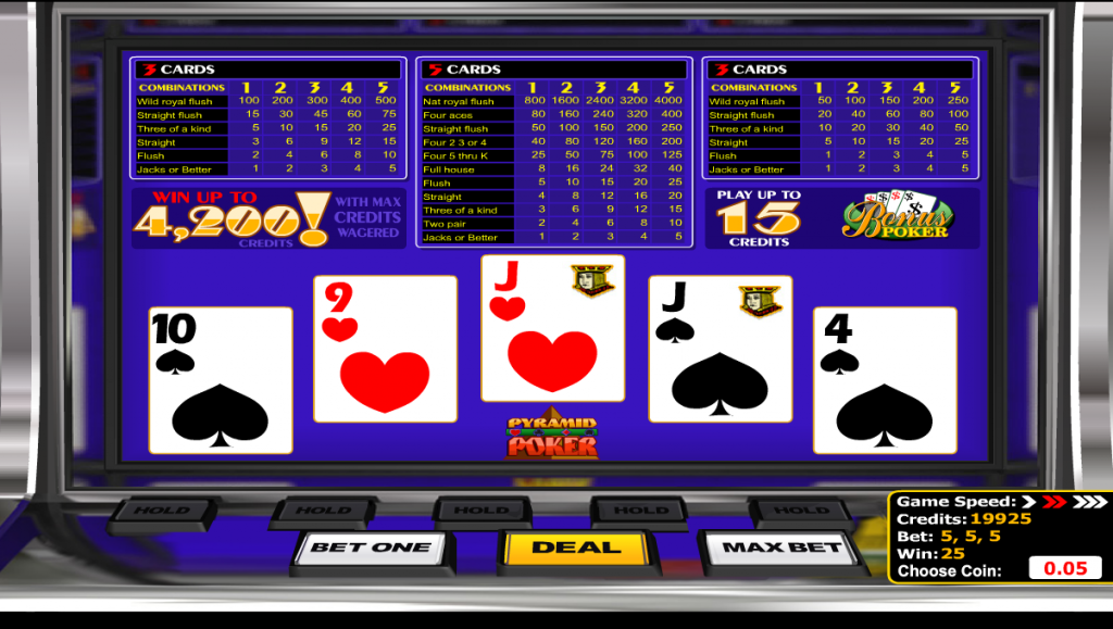 Pyramid Poker Video Poker