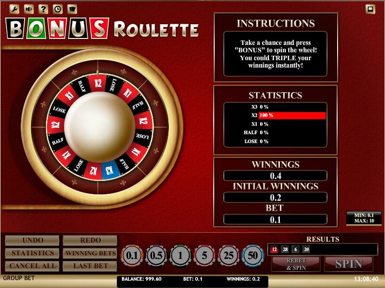 Bonus Roulette Win