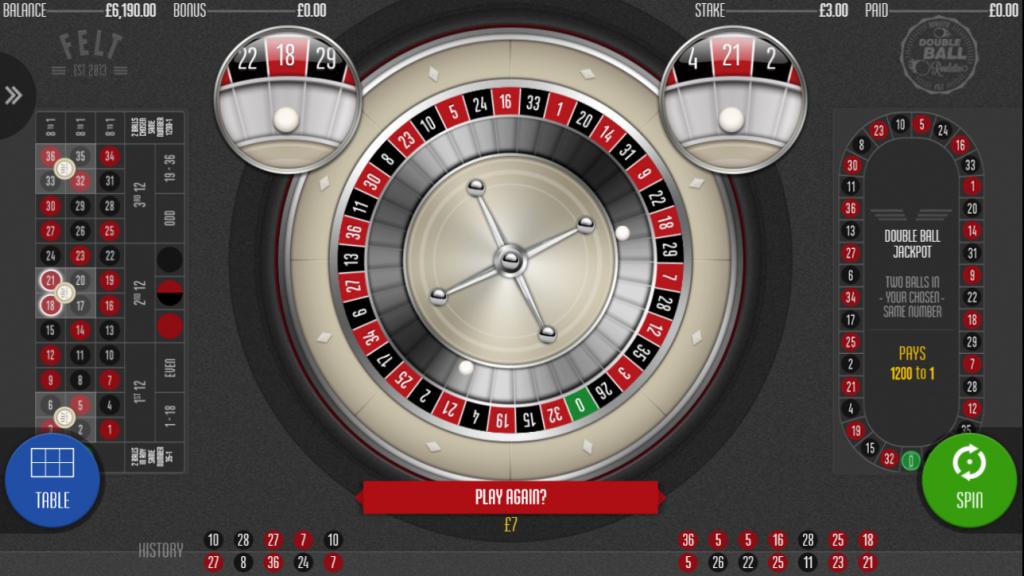 Double Ball Roulette Winner