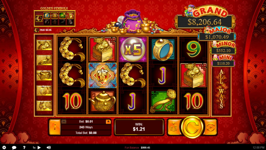 Plentiful Treasure Multiplier Winner