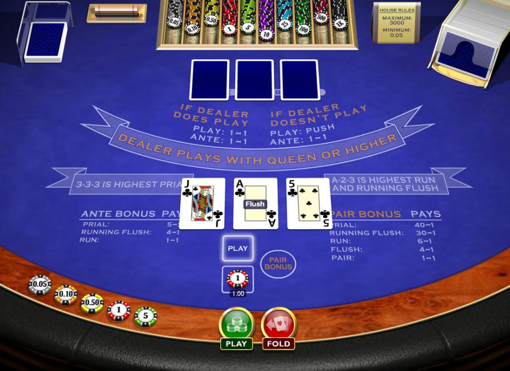 3 Card Brag Main Game