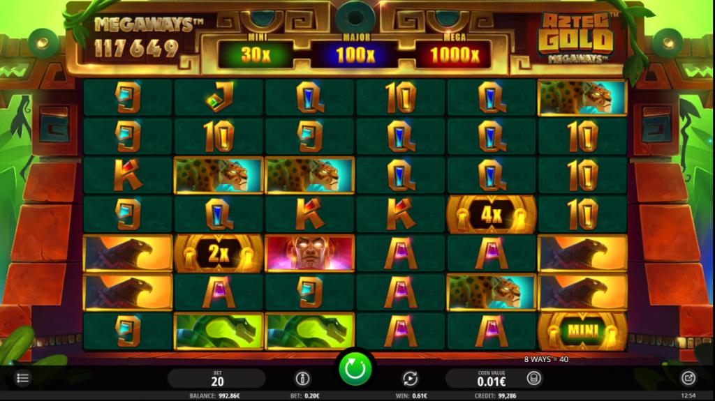 Aztec Gold Megaways 117,649 Ways to Win
