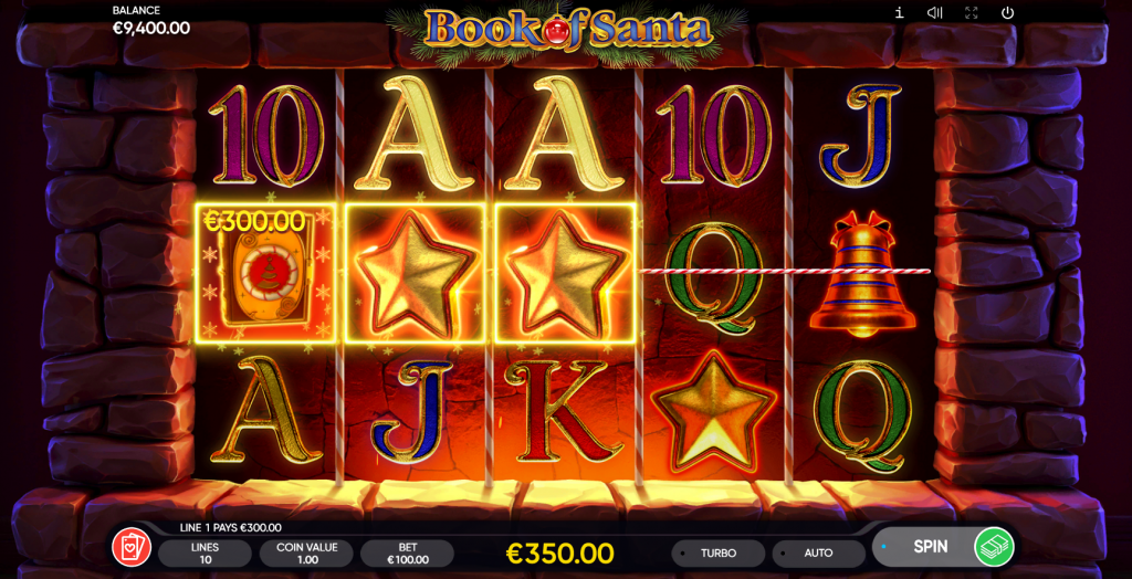 Book of Santa Slots Main Game