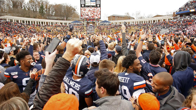 Outside of the UVA - VA Tech rivalry, collegiate sports is not as big of a deal in Virginia as other states.