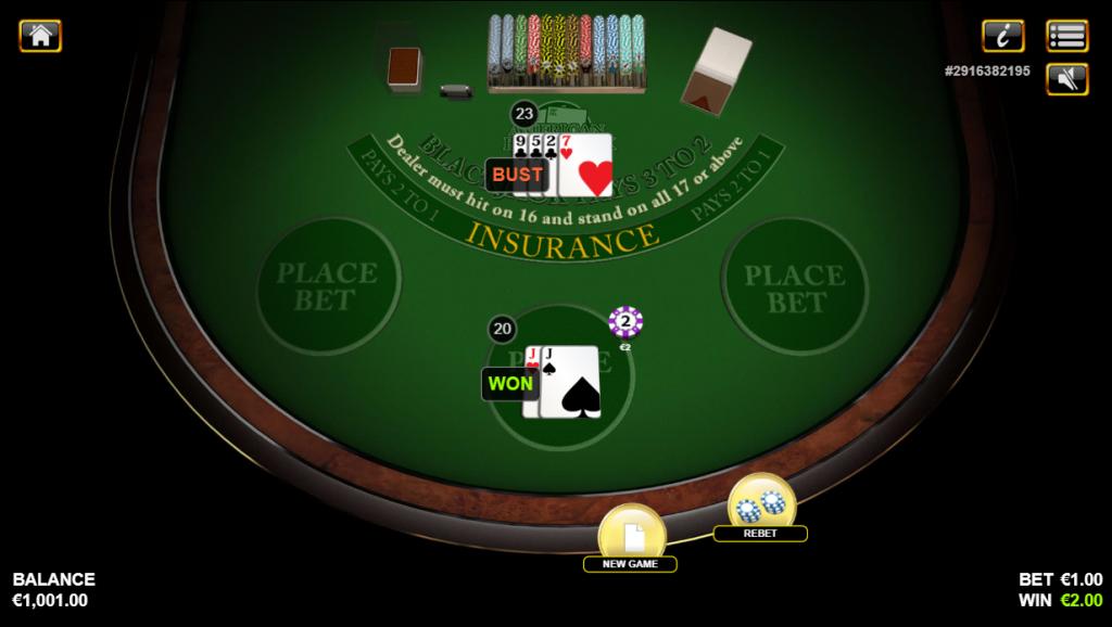 American Blackjack Hand