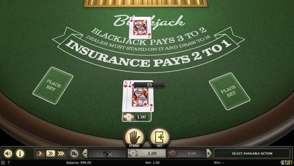 European Blackjack Hand