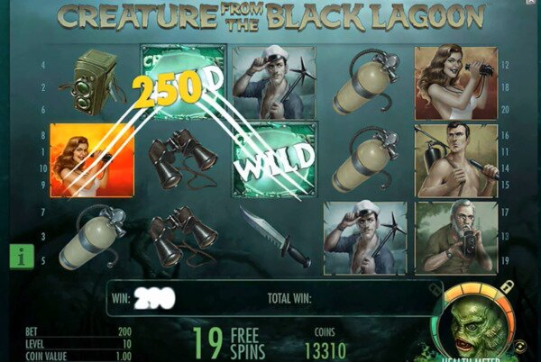 Creature from the Black Lagoon Slots NetEnt
