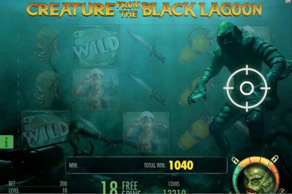 Creature from the Black Lagoon Slots NetEnt Spin Palace