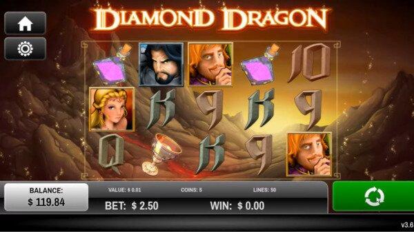 Diamond Dragon Slots Joe Fortune