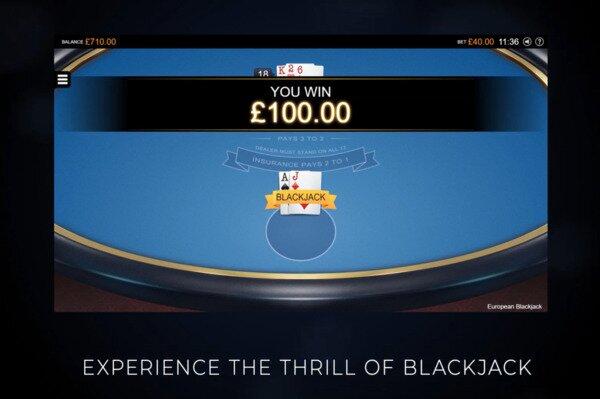 European Blackjack Jackpot City