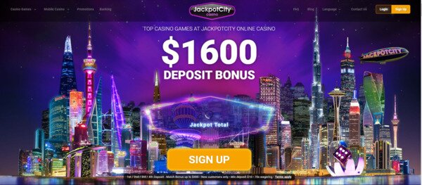 Jackpot City $1600 Welcome Bonus
