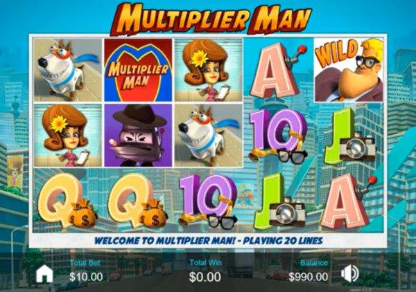 Multiplier Man Slots Bodog