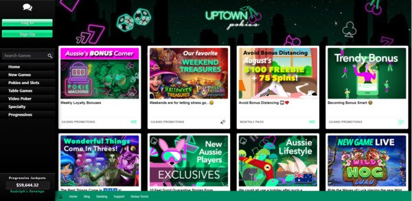 Uptown Pokies Promotions and Bonuses