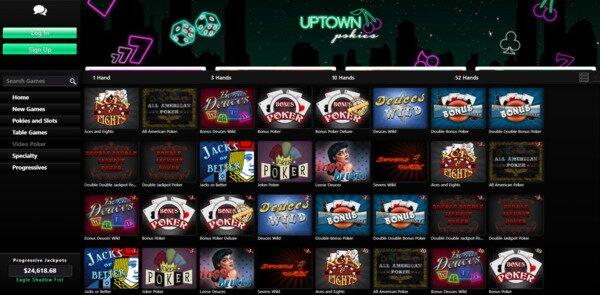 Uptown Pokies Video Poker