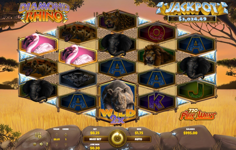 Diamond Rhino Nice Win 2x